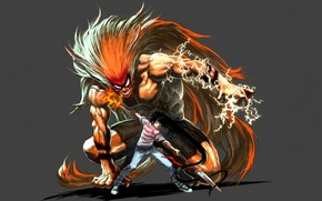 Picture demon, fire, flame, game, tiger, anime, general, boy, energy, assassin, asian, warrior, manga, japanese, oriental, …