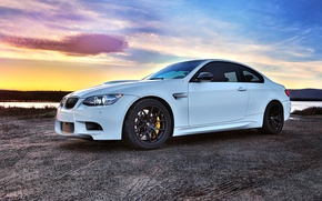 Picture white, black, bmw, BMW, coupe, white, wheels, drives, bbs, e92, brake, BBC, Brembo