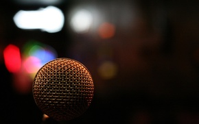 Wallpaper macro, paint, light, macro, microphone, bokeh, microphone, colors, music, light, music, 1920x1280, bokeh