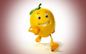 Picture smile, background, lemon, lemon, smile, background, gait, walk