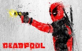 Picture Gun, Sword, Deadpool, Marvel, Deadpool, Wade Wilson