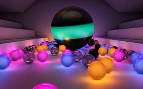 Picture colorful, balls, bright