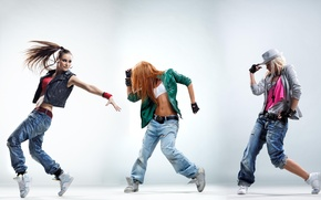 Picture movement, girls, jeans, jacket, dancing, girls, sneakers, hip-hop, dance, dancer, poses, rnb, dancing, clothing.style, dancers