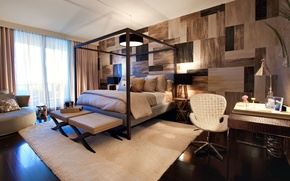 Picture design, style, room, interior, Design, bedroom, Interior, Project, Bedroom, small, Miami Beach, Residencial, The Bath ...
