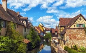 Picture France, home, channel, the urban landscape, Colmar, Fachwerk