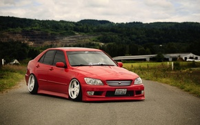 Picture car, red, red, japan, toyota, jdm, tuning, Toyota, height, Altezza
