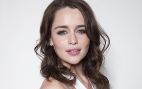 Wallpaper smile, actress, Emilia Clarke, Emilia Clarke