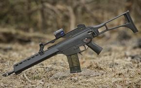 Picture machine, assault rifle, assault rifle, HK G36K, dry needles