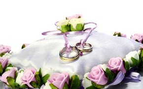 Picture roses, ring, wedding, ring, roses, wedding