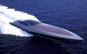 Picture foam, the ocean, quick, Gray Design, super yacht, Standart Craft 122
