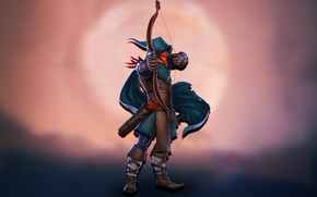 Picture Raven, bow, hero, Strife, raven, MOBA, rook