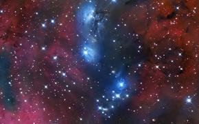 Picture space, stars, nebula