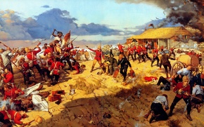 Picture Battle, the battle, when, Anglo-Zulu war, Isandlwana