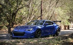 Picture Subaru, sports car, blue, blue, Subaru, brz, quick