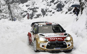 Picture Snow, Citroen, Citroen, DS3, WRC, Snow, Rally, Rally, Monte Carlo, Ostberg