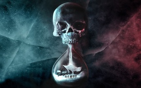 Picture sake, life, death, hourglass