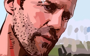 Wallpaper face, actor, Jason Statham, Jason Statham