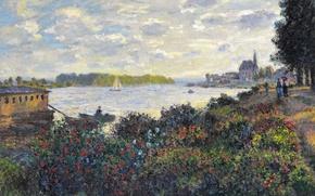 Picture The Seine at Argenteuil, river, landscape, picture, Claude Monet