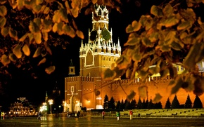Picture autumn, Moscow, area, beautiful, red, center, gum