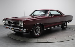 Picture background, GTX, Plymouth, the front, Burgundy, 1968, Muscle car, Plymouth, Muscle car, 426, Hemi