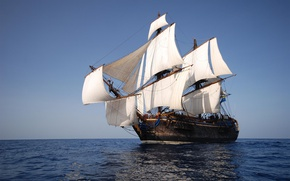 Picture large, wooden, sailing ship, sailing ship, largest wooden, coming to Dover