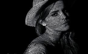 Picture text, Emma Watson, Emma Watson, Typography, Portrait, Text