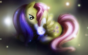 Picture childhood, art, friendship, pony, Bunny, my little pony, for girls, for kids