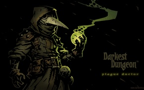 Picture smoke, pomegranate, the plague doctor