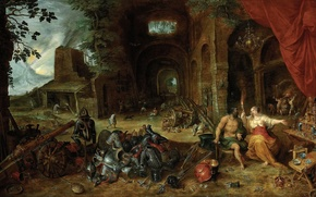 Wallpaper picture, Jan Brueghel the younger, Allegory Of The Element Of Fire