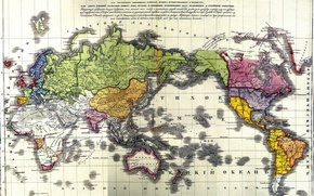 Picture Map, Empire, first, Russian, political