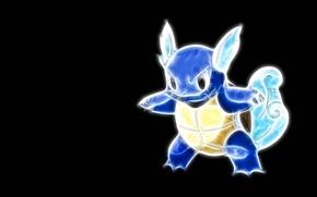 Picture water, blue, water, tail, ears, tail, floats, pokemon, pokemon, shell, wartortle, vartoti
