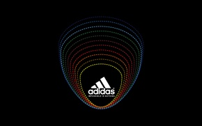 Picture Black, Logo, Background, Adidas, Classic, Adidas