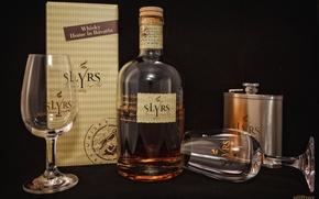 Wallpaper box, glass, bottle, alcohol, whiskey, jar