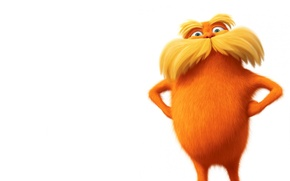 Picture orange, white background, baleen, the lorax, The Lorax