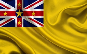 Wallpaper Niue, Niue, Flag