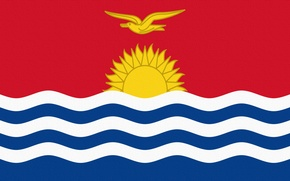 Picture The sun, Flag, Republic, Republic, Kiribati, Kiribati