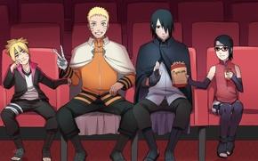 Picture children, art, Naruto, Sasuke Uchiha, Naruto Uzumaki