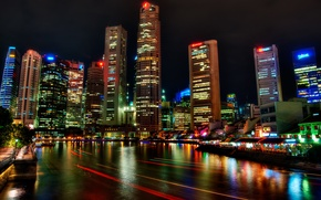 Picture night, Singapore, night, Singapore, Festival, River