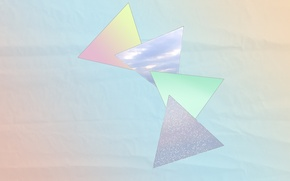 Wallpaper color, geometry, gradient, pastel, triangles
