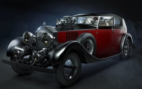 Picture car, rolls royce, car, classic, old, roadster