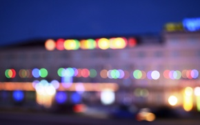 Picture road, machine, machine, the city, Kazakhstan, the hotel, hotel, bokeh, bokeh