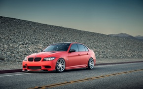 Picture BMW, BMW, Red, red, tuning, 335i, E90, The 3 series