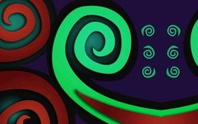 Wallpaper color, pattern, spiral, background