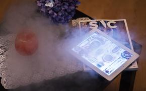 Picture wine, smoke, iPad