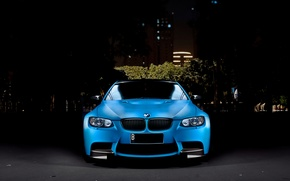 Picture Auto, Night, Blue, The city, BMW, Tuning, Machine