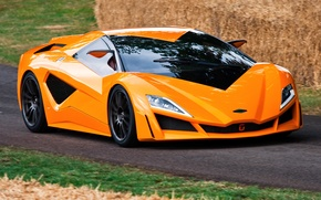 Picture car, orange, Giugiaro, ItalDesign, Frazer-Nash Namir, design Giugiaro