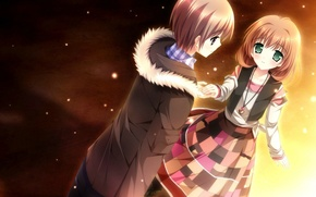 Picture anime, art, pair, two