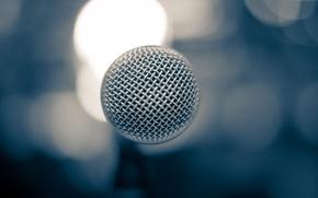 Wallpaper bokeh, microphone, concert