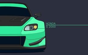 Picture Minimalism, Honda, Honda, S2000, Minimalism