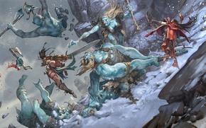 Picture battle, Jesper Ejsing, Pathfinder Adventure, Ice Tomb of the Giant Queen